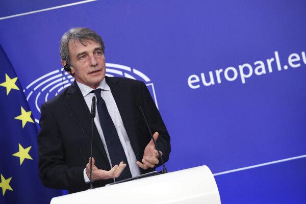 Šéf Európskeho parlamentu David Sassoli.