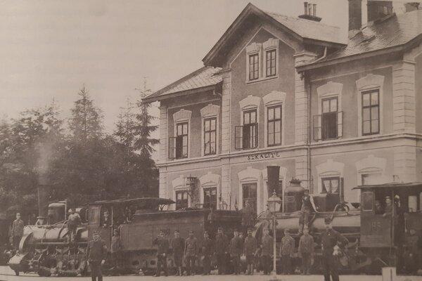 Železničná stanica v Skalitom na prelome storočí