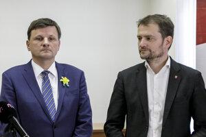 25. október 2019, Bratislava. Matovič ponúkal Hlinovi miesta na kandidátke, ten ho odmietol.