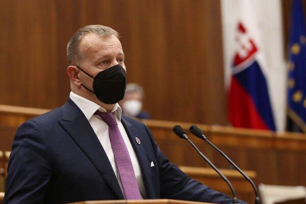 Predseda parlamentu Boris Kollár počas rokovania 25. schôdze Národnej rady SR.