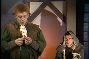 Frodo a Aragorn v sovietskej verzii Pána prsteňov.