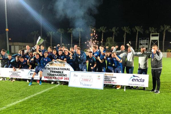 Slovenská reprezentácia do 21 rokov vyhrala turnaj v Turecku.