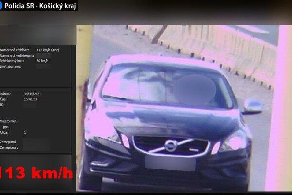 Volvo prekročilo rýchlosť o 63 km/h.