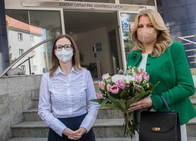 Šéfka ŠÚKL Zuzana Baťová a prezidentka Zuzana Čaputová.