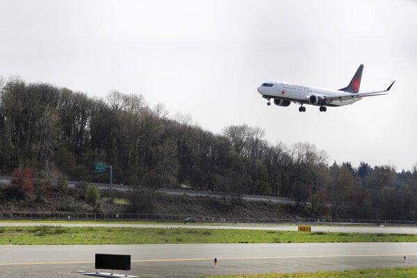 Lietadlo Boeing 737 Max 8 spoločnosti Air Canada.