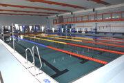 Zrekonštruovaný plavecká bazén má šesť dráh.