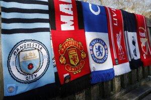 Šály anglických futbalovových klubov, ktoré majú byť súčasťou novej európskej Superligy.