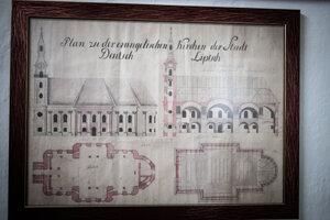 Plán výstavby nového kostola, ktorý sa v Partizánskej Ľupči nerealizoval.