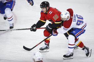 Tomáš Tatar v zápase Calgary - Montreal v NHL.