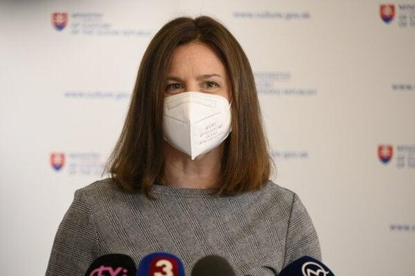 Ministerka kultúry Natália Milanová (OĽaNO).