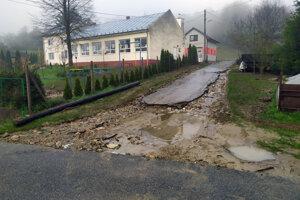Podľa starostu išlo o najväčšiu záplavu v obci od roku 2010.