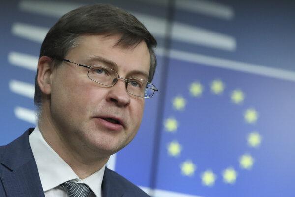 Valdis Dombrovskis, výkonný podpredseda Európskej komisie.