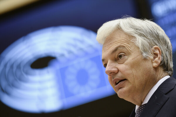 Eurokomisár pre spravodlivosť Didier Reynders.