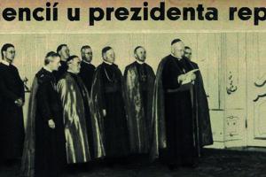 Audiencia biskupského zboru u Jozefa Tisa.
