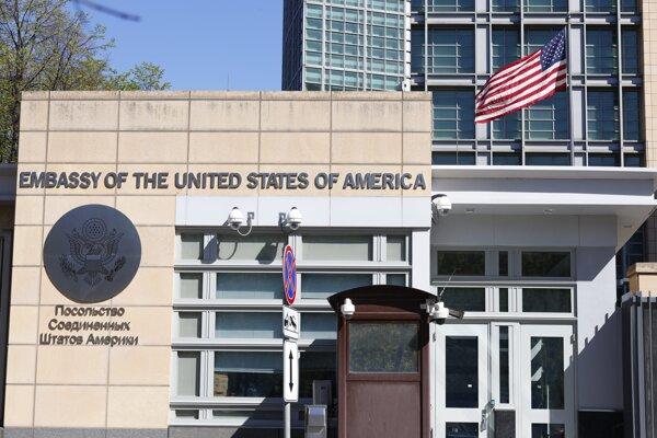 Budova americkej ambasády v Moskve.