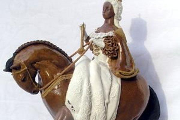 Medovníková socha Márie Terézie.