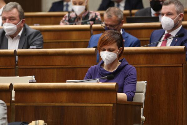 Poslankyňa parlamentu za stranu Za ľudí Miriam Šuteková.