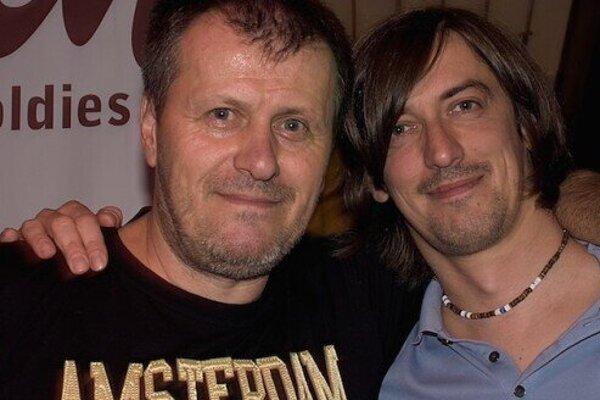 Julo Viršík s majiteľom Artina Andrejom Berkešom.