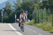 Vážska cyklotrasa pri Vodnom diele Žilina