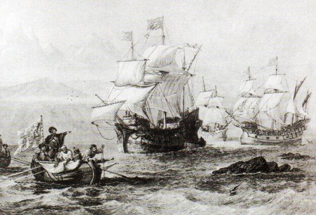 Magalhãesova výprava musela čeliť mnohým nástrahám neznýmych morí.
