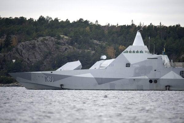 Prvú neviditeľnú loď mali Švédi. Na snímke korveta HMS Visby.