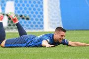 Róbert Mak oslavuje gól v zápase Slovensko - Poľsko na EURO 2020.