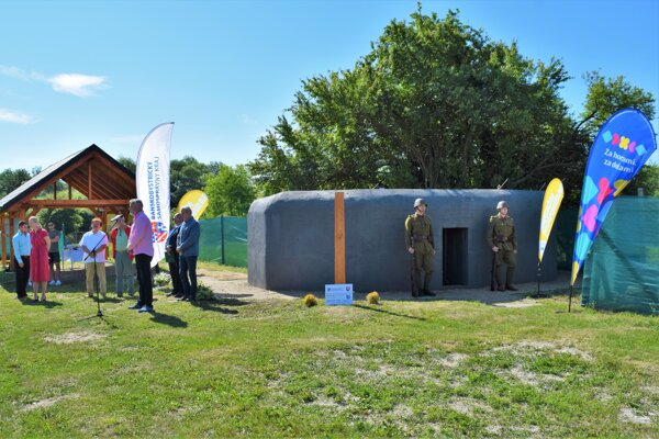 Vo Veľkej Čalomiji sprístupnili bunker z II. svetovej vojny.