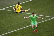 Momentka zo zápasu Slovensko - Švédsko na ME vo futbale - EURO 2020 / 2021.