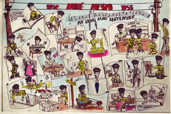 """Tablo a jeho """"hviezdy"""" z roku 1955."""