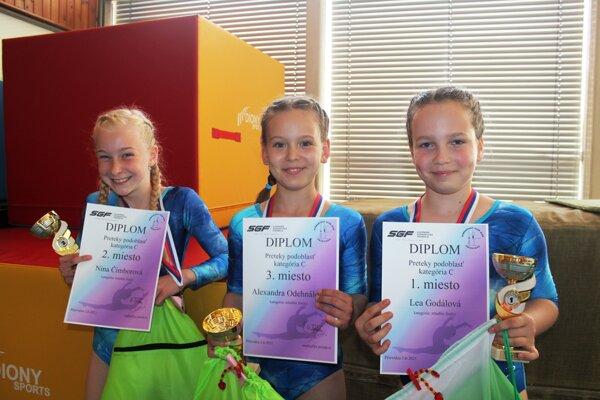Gymnastky z Topoľčian.