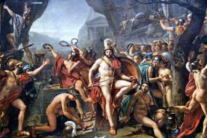 Léonidas pri Termopylách – slávna historická scéna, ktorú namaľovaľ francúzsky maliar Jacques-Louis David.