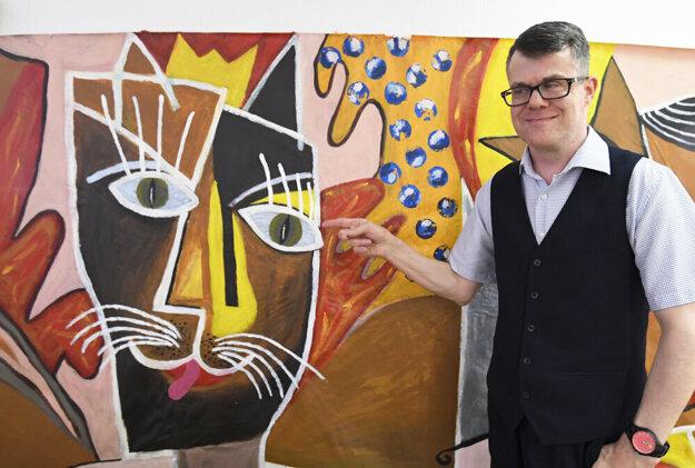 Hluchoslepý umelec Martin Kovalík.