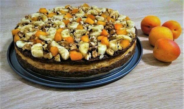 Fit ovocný koláč s tvarohom