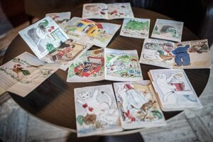 Kresby zostali v parížskom byte, kde mal Weiner-Kráľ aj ateliér.