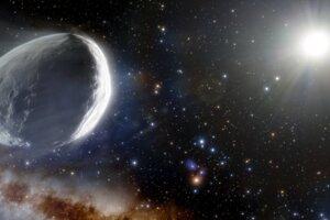 Vizualizácia kométy Bernardinelli-Bernstein. Je najväčšia, akú kedy astronómovia našli.