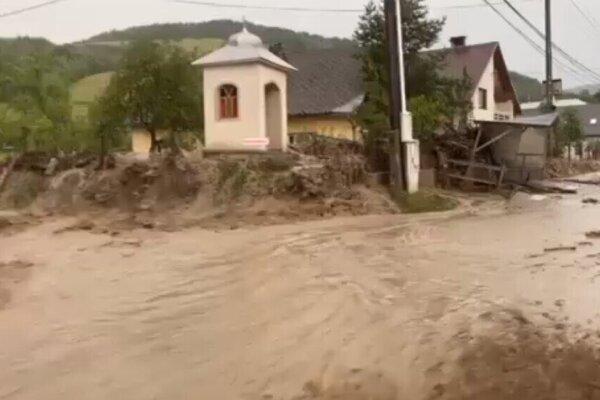 Povodeň v Lenartove.