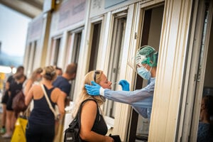 Testovanie na koronavírus.