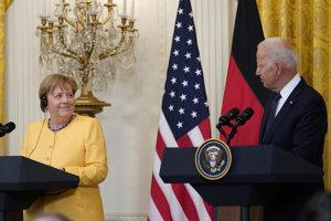 Angela Merkelová a Joe Biden.