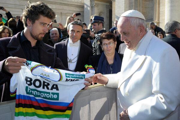 Sagan sa už s pápežom Františkom osobne stretol v roku 2018 vo Vatikáne. V septembri v Košiciach sa nakoniec len tesne minú.