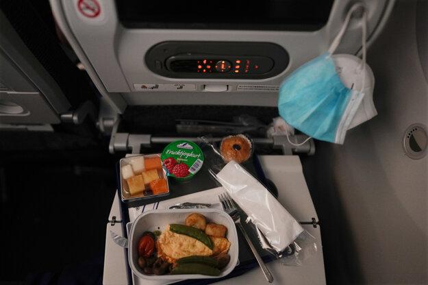 Raňajky na palube.