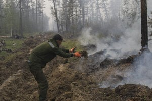 Požiar v Rusku.