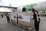 Dodávka vakcín proti ochoreniu Covid-19 v rámci iniciatívy COVAX.