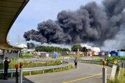 K výbuchu došlo v industriálnom parku pre chemický priemysel Chempark.