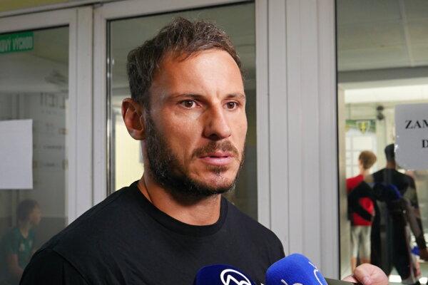 Športový manažér Žiliny František Skladaný počas dnešného stretnutia s médiami.
