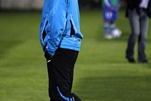 Smutný tréner Nitry Cyril Stachura.
