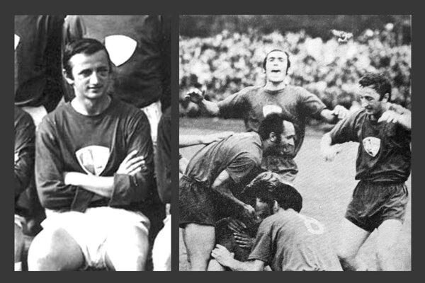 František Halás starší na archívnych fotkách ako hráč AC Nitra.