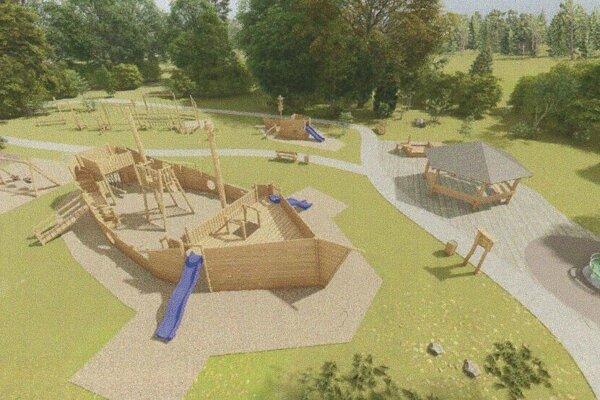 V obecnom parku môže vzniknúť podobné ihrisko.