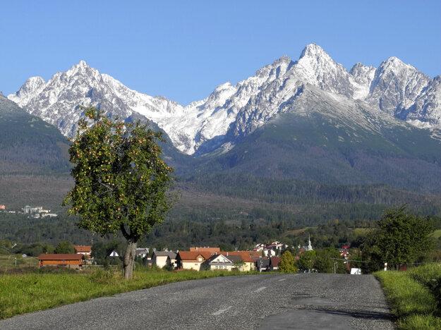 Nová Lesná sa chváli tým, že má najkrajší výhľad na Vysoké Tatry.