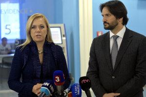 Bývalí ministri vnútra Denisa Saková a Robert Kaliňák.