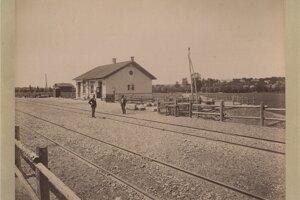 Železničná stanica v Brestovanoch v roku 1876.